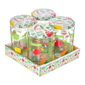 HEREVIN Conserving Jar- Vegatables 660 cc Set of 4