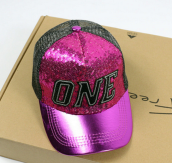 BAI B-335 Adjustable Baseball Cap MBL Hiphop cap with The ONE design-Rose