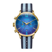 WELDER Strappy Blue Strap Gold Watch [WRC901]