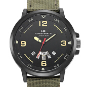 HANNAH MARTIN Men's Leather Strap Watch 1602
