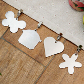 ORZ Set of 4 Stainless Steel Pendant Tablecloth Weights Butterfly House Heart Flowers Shaped