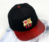 BAI B-325 Adjustable Baseball Cap MBL Hiphop cap with FCB design-Black&Red