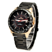 MIRAGE Watch Men 7614M Black Rg - Rosegold