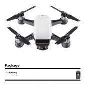 DJI Spark Mini Drone Fly More Combo with Extra Battery - Alphine White