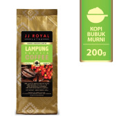 JJ ROYAL Coffee Lampung Robusta Ground (Kopi Bubuk) Bag 200gr