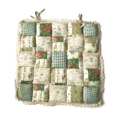Vintage Story  Shabby Chairpad 40x40cm - Green