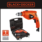Black+Decker 10mm Rotary Drill Value Pack HD400K9-B1 Orange
