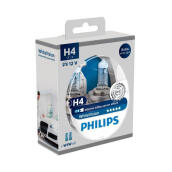 PHILIPS WHITE VISION H4 (4100K) - LAMPU HALOGEN