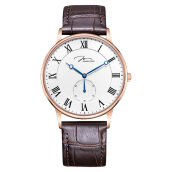 Jonas Verus Men Quartz White Dial Brown Leather Strap [Y01754-Q4.PPWLZ]