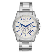 Armani Exchange Men Chronograph White Dial Stainless Steel [AX2510] Silver