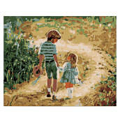 Childhood DIY Digital Oil Painting Art Wall Home Decoration Colormix