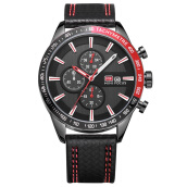 MINIFOCUS imports original sports men's multifunction three-eye calendar Swiss army watch