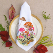 BETSY OLMSTED Wonderland Mushroom Napkin Set Multicolor 20