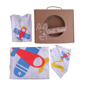 LITTLELITTLE JOY by Go2 Toes Gift Set Package Airplane (Selimut, Bibs, & Jumper) - [6-9 Months ]