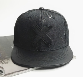 BAI B-326 Adjustable Baseball Cap MBL Hiphop cap with X design-Black