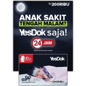 (Promo) Gift Card YesDok Value Rp 200.000