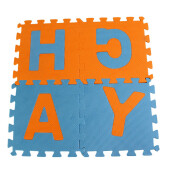 BESSKY 36pc Alphabet Numbers EVA Floor Play Mat Baby Room ABC Foam Puzzle _ Multicolor