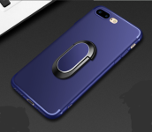 Reys R-059 Silicone Surface scrub treatment With ring&magnetic anti-fall super thin IPHONE 7/8 Plus case cover- Blue