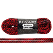 KIPZKAPZ RS48 Round Shoelace - Red Black Web [4mm]