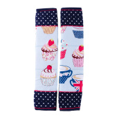 ARNOLD CARDEN Refrigerator Handle Cover Cup Cake 1 Pair - Dark Blue 15x30cm