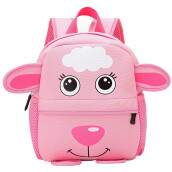 BESSKY Child Backpack Toddler Kid School Bags Kindergarten Cartoon Shoulder Bookbags_ Pink