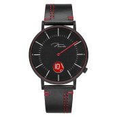 Jonas Verus Chivalry Collection Men Black Dial Black Leather Strap [Y02065-Q3.BBBLBR]