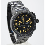 Balmer Stainless Steel Chain Mens B.7964MB-918D45HTM Chronograph Hitam Black