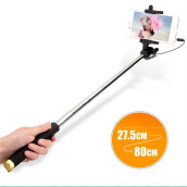BESSKY Portable Extendable Monopod Self-Pole Handheld Wired Selfie Stick For iPhone_