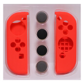 Nintendo Switch 6 in 1 Silicone Joy Con Cover Heightening Cap Switch Silicone Case Red
