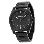 Fossil Machine Black Dial Black Plated Stainless Steel [FS4775] Black