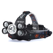 BESSKY 35000 LM 5X XM-L T6 LED Rechargeable Headlamp Headlight Travel Head Torch_ Black