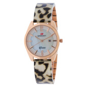 SWISS NAVY Women Mother Of Pearl Dial Stainless Steel [8974LRGWB] Multicolor