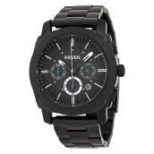 Fossil Machine Chronograph Black Stainless Steel [FS4552] Black
