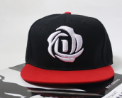 BAI B-327 Adjustable Baseball Cap MBL Hiphop cap with D Rose design-Black&Red