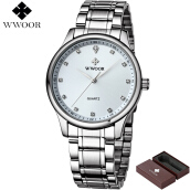 WWOOR Official Quartz Watch 8012 Luxury Brand Men's Fashion  Business Watches Waterproof Sport Watch