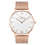 Jonas Verus Minimalist Collection Men White Dial Rose Gold Stainless [Y01646-Q3.PPWBP]