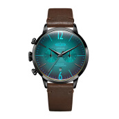 WELDER Smoothy Dark Brown Strap Black Watch [WRC207]
