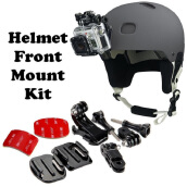 Vaping Dream - Helmet Front Mount Kit 3M Kit Mount Helm Depan untuk Action Camera Xiaomi Grey
