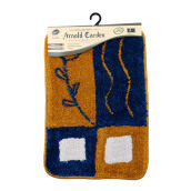 ARNOLD CARDEN Wool Handtuft Mat -Two Leaf and Square / 45x65cm