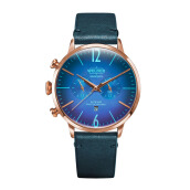 WELDER Smoothy Blue Strap RoseGold Watch [WRC305]
