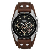 Fossil Coachman Chronograph Black Dial Brown Leather Strap [CH2891]