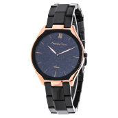 Alexandre Christie AC 8517 LH BBRBA Ladies Blue Dial Stainless Steel [ACF-8517-LHBBRBA] Black