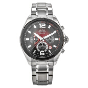 Alba Chronograph Men Dual Color Dial Stainless Steel Strap [AT3B49X1] Silver