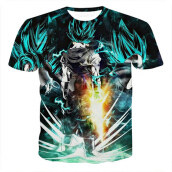 SESIBI 3D T Shirts Men's Summer Printing Tees -Cartoon Dragon Ball Monkey King -