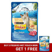 FRISKIES Wet Pouch Tuna 5pcs Free 1pcs 80gr