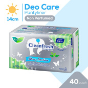 LAURIER Pantyliner Cleanfresh Silvery Deo Care 40's