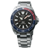 Seiko Prospex Samurai PADI Black Pattern Dial Stainless Steel Strap Limited Edition [SRPB99K1] Silver