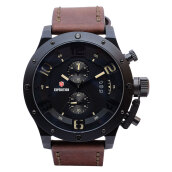 Expedition Man Black Dial Brown Leather Strap [EXF-6381-MCLIPBAIVBO] Coklat