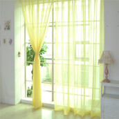 BESSKY 1 PCS Pure Color Tulle Door Window Curtain Drape Panel Sheer Scarf Valances_