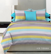KING RABBIT Bed Cover & Set Seprei Sarung Bantal Full Motif Ice - Toska/ 120x200x30 cm